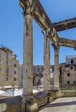 Die Kolonnade in der Spalte, Kroatien stockfoto
