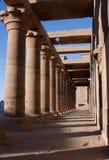 Die Kolonnade des Tempels von Isis Stockfoto