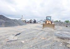 Die Konsequenzen des Krieges und der Ebola-Epidemie Altes Bergwerk in Liberia stockfoto