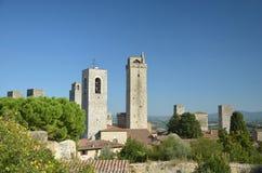 Die Kontrolltürme von San Gimignano, Italien Stockbild