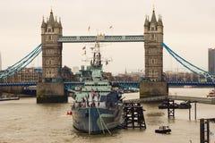 Die Kontrollturmbrücke in London Lizenzfreies Stockfoto