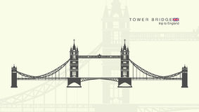 Die Kontrollturmbrücke in London Lizenzfreies Stockbild