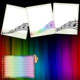 Die Konzert-Einklebebuch-Seite Stockfotos