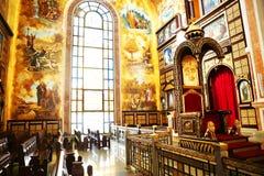 Die koptische orthodoxe Kirche nach innen im Sharm el Sheikh Stockfotos