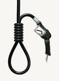 Die Kosten des Benzins Stockbilder
