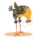 Die Krähe und der Käfer Lizenzfreie Stockbilder