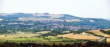 Die Kreisstadt von Lewes in Ost-Sussex, England stockfotografie