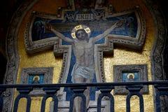 Die Kreuzigung von Christus-Mosaik Lizenzfreie Stockbilder