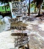 die Kreuzungen Belize Stockfotos
