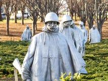 Die Krieger des Koreakriegs Stockfotografie