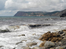 Die Krimküste nahe Balaklava stockfotografie