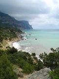 Die Krimküste nahe Kap Aiya lizenzfreies stockfoto
