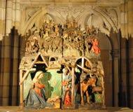 Die Krippe in der Kathedrale Stockfoto