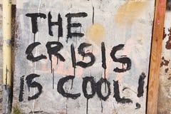 Die Krise ist kühl stockbilder