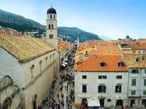 Die kroatische Stadt von Dubrovnik Stockfotos