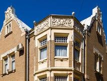 Die Krone des Dachs des Gebäudes Stockbild
