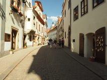 Die Krumlov's-Straße Stockfotos