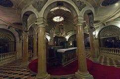 Die Krypta unter der Basilika von St Andrew in Mantua Lizenzfreies Stockbild