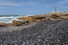 Die Küste bei Cabo Polonio Stockfotografie