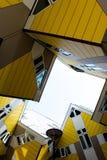 Die Kubikhäuser Kubuswoningen lizenzfreie stockfotos