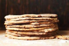 Die Kuchen für Kuchen Kuchen-Herstellung Lizenzfreie Stockfotos