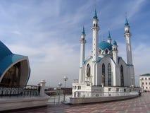 Die Kul Sharif Moschee, Kazan, Russland Lizenzfreies Stockbild