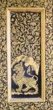 Die Kunst des Vergoldungs-Lacks Stockbild