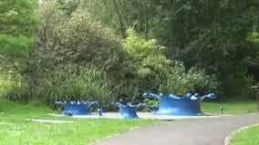 Die Kunst im Park stock footage