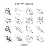 Die Kunst, die Satz des Vektors skizziert, lässt Symbole Stock Abbildung