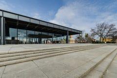Die Kunstgalerie Neue Nationalgalerie in Berlin, Deutschland Stockbild