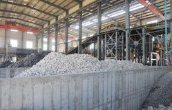 Die kupferne Metallproduktionsanlage Stockfotos