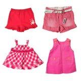 Die kurzen Hosen und die Kleider des Mädchens stockfotografie