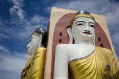 Die Kyaikpun-Pagode auf Myanmar Stockbilder