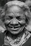 Die lächelnde alte Dame Lizenzfreie Stockfotografie