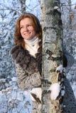 Die lächelnde Frau Lizenzfreies Stockbild