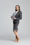 Die lächelnde Geschäftsfrau Lizenzfreies Stockfoto