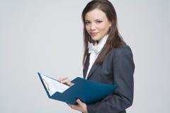 Die lächelnde Geschäftsfrau Lizenzfreie Stockbilder