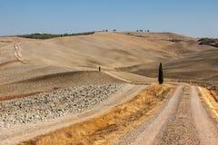 Die ländliche Landschaft der Toskana Lizenzfreies Stockfoto