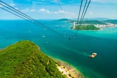 Die längste Drahtseilbahn, Insel Phu Quoc in Vietnam stockfotografie
