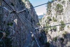 Die längste Seilbrücke in der Welt Stockbild