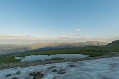 Die Lagune des Berges stockfotos