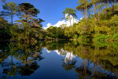 Die Lagune von Monserrate Lizenzfreie Stockfotografie