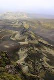 Die Laki Krater stockfotografie