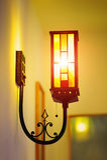 Die Lampe auf der Wand Stockfoto