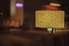 die Lampe in der Bibliothek Stockfoto