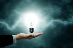 Die Lampe hat eine Leistung Lizenzfreie Stockfotos