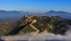 Die Landschaft der Chinesischen Mauer stockfotografie