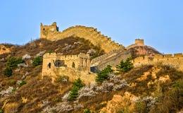 Die Landschaft der Chinesischen Mauer lizenzfreie stockfotos