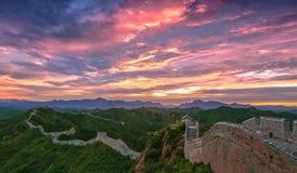 Die Landschaft der Chinesischen Mauer stockfotos