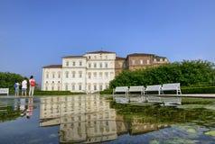 Die Landschaft der Gärten des königlichen Palastes von Venaria Stockbilder